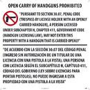 NMC M461 Texas Open Carry Handgun Law