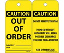 NMC RPT145 Caution Out Of Order Tag