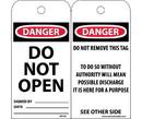 NMC RPT19 Danger Do Not Open Tag
