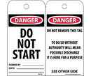 NMC RPT22 Danger Do Not Start Signed Tag