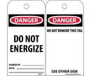 NMC RPT61 Danger Do Not Energize Tag