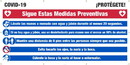NMC SPBT61 Covid-19 Protect Yourself - Banner, Spanish