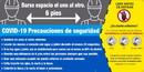 NMC SPBT62 Covid-19 Safety Precautions Banner Spanish