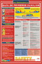NMC SPPST002 First Aid Guide Spanish Poster, PAPER, 24