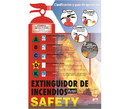 NMC SPPST003 Fire Extinguisher Safety Spanish Poster, PAPER, 24