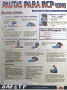 NMC SPPST004 Cpr Guidelines Spanish Poster, PAPER, 18