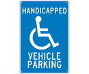 NMC TM10 Handicapped Vehicle Parking Sign