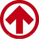 NMC WFS84 Arrow Floor Sign, Red