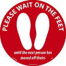 NMC WFS86RD Please Wait On The Feet, Red