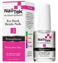 Nail Tek 55809 Treatments Protection Plus 3, For Hard and Brittle Nails