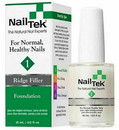 Nail Tek 55813 Ridge-Filling Strengthening Base Coats, Foundation 1 For Strong, Healthy Nails