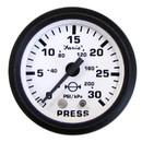 Faria 12903 Euro Water Pressure Gauge Kit 30 PSI - White, 2