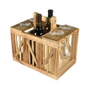 Outdoors Unlimited 22109 Wood Wine Caddy Crate