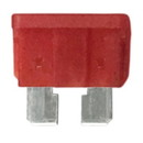 WirthCo 24360 MidBlade Fuse - 10 Amp (Red), Pack of 5
