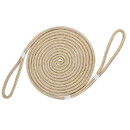 Extreme Max 3006.2397 BoatTector Premium Double Looped Nylon Dock Line for Mooring Buoys - 30', White & Gold