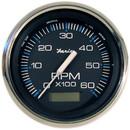 Faria 33732 Chesapeake Tachometer 6000 RPM Gauge with Hourmeter - Black SS, 4