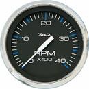 Faria 33742 Chesapeake Tachometer 4000 RPM Gauge - Black SS, 4
