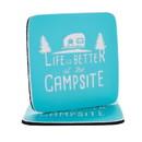 Camco 53230 Coasters 2 Pk Blue Design