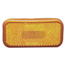 Fasteners Unlimited 89-237A Command Electronics Rounded Corner Clearance Light - Amber Replacement Lens