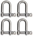 Extreme Max 3006.8243.4 BoatTector Stainless Steel D Shackle - 3/8