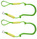 Extreme Max 3006.2574 BoatTector PWC Bungee Dock Line Value 2-Pack - 4', Green/Yellow