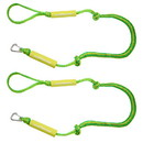 Extreme Max 3006.3108 BoatTector PWC Bungee Dock Line Value 2-Pack - 5', Green/Yellow
