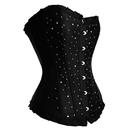 Muka Black Overbust Fashion Corset Bustier, Cheap Corset, Gift Ideas