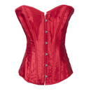 Muka Womens Red Satin Overbust Fashion Corset, Bustier top