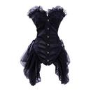 MUKA Elegant Boned Costume Corset Dress, Old Fashioned Corset