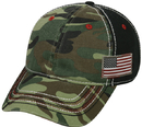 Outdoor Cap AGC-100 Generic Camo with USA or Texas Flag