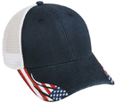Outdoor Cap FLG-300M Mesh Back, Structured, American Flag