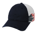 Outdoor Cap FLG-605 Mesh Back, Side Screen Print American Flag