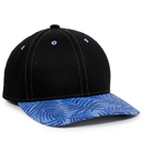 Outdoor Cap FLR-100 Cotton Twill, Tropical Leaf Pattern
