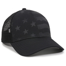 Outdoor Cap USA-750M Debossed Stars and Stripes Pattern, Nylon Mesh Back