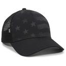 Outdoor Cap USA-750M Debossed Stars and Stripes Pattern, Nylon Mesh Back