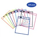 Muka Assorted Color Dry Erase Pocket Reusable 10 x 13 Inch Dry Erase Sleeves, 350 Pack/Case for wholesale