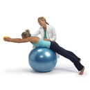 Gymnic Classic Plus Exercise Ball - 55 cm Pearl White
