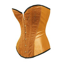 Muka Gold Strapless Sparkle Glitter Satin Boned Fashion Corset Top, Gift Ideas