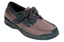 Orthofeet 422 Baton Rouge, Men's Boat Shoe - Tie-Less Lace