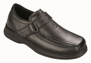 Orthofeet 585 Lincoln Center, Men's Dressy Oxford - Hook-And-Loop Strap, Black