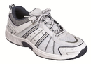 Orthofeet 610 Monterey Bay, Men's Athletic - Tie-Less Lace - Washable, White