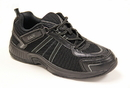 Orthofeet 611 Monterey Bay, Men's Athletic - Tie-Less Lace - Washable, Black