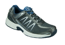 Orthofeet 672 Sprint, Men's Athletic - Tie-Less Lace, Gray
