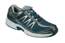 Orthofeet 674 Sprint, Men's Athletic - Tie-Less Lace, Blue