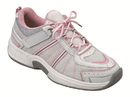 Orthofeet 916 Tahoe, Women's Athletic - Tie-Less Lace - Washable, Pink