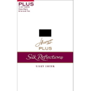 Hanes 00P19 Silk Reflections Plus Knee Highs Enhanced Toe, 2-Pack
