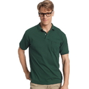 Hanes 0504 Cotton-Blend Jersey Men's Polo with Pocket