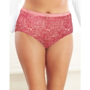 Just My Size 1610LE Lace Effects 100% Cotton TAGLESS Brief Panties, 5-Pack