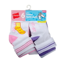 Hanes 36T6 Infant Girls Turn Cuff Socks P6