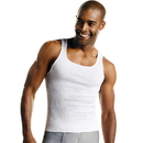 Hanes 372AP6 Men's TAGLESS ComfortSoft White A-Shirt 6-Pack